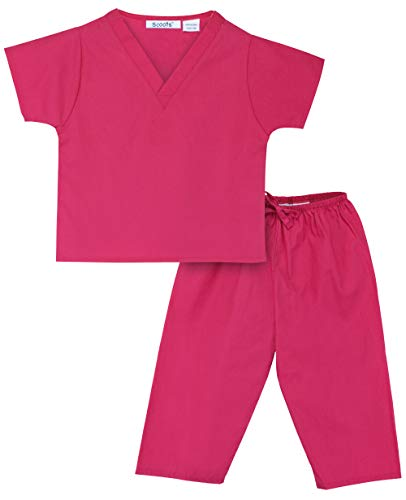 Scoots Baby Little Girls' Scrubs, Hot Pink, 4T]()
