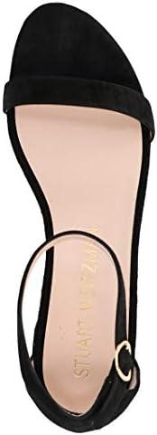 Luxury Fashion | Stuart Weitzman Dames NUDISTJUNESUEDEBLACK Zwart Suôde Sandalen | Lente-zomer 20