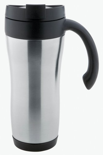 Copco 2510-7550 Symphony Double Wall Stainless Steel Travel Mug with Spill Proof Lid, 16-Ounce, - Mug Symphony