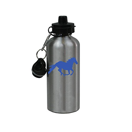 - Personalized Custom Horse Aluminum Silver Finish 20 Ounce Water Bottle Customizable