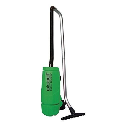 - Bissell BigGreen Commercial Backpack Vacuum, 6 qt, 10 lb