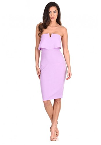 AX Front Notch Bodycon Lilac Dress Women's Paris FPrtpwqF