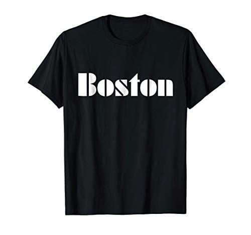 Boston - Old School Police Font T-Shirt