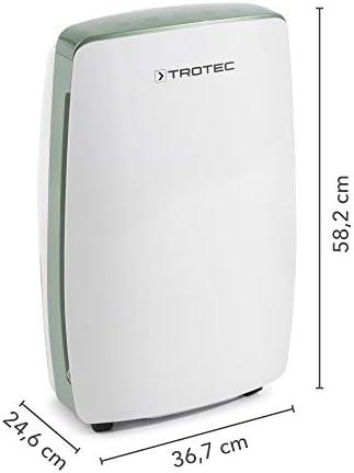 TROTEC Deshumidificador eléctrico TTK 68 E, 20L/24h, Pantalla LED, Depósito 4L, Portátil, Para Habitaciones de 45m²/110 m³, Filtro de Aire, Diseño, Silencioso, 450 W, Auto-Apagado, Temporizador, Secado de Ropa: Amazon.es: Bricolaje y