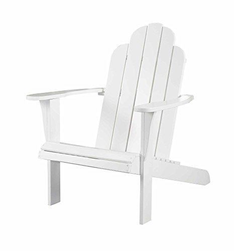 - Linon 21150WHT-01-KD-U Pasco White Adirondack Chair