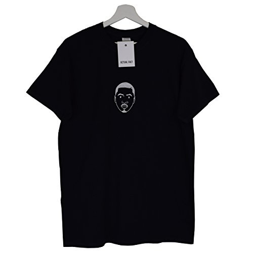 Nas Jam Mc Hecho Hip Tee Def real negra Camiseta Hop Cara bordada superior Rap 1wxx4T6q