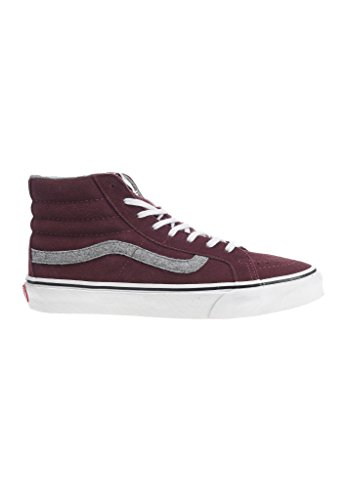 Mahogany Slim Red Sneakers Sk8 Unisex Vans hi Adults' Hi Top Iz7wAqAx