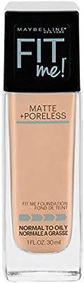 Maybelline Fit Me Matte + Poreless Liquid Foundation Makeup, Creamy Beige, 1 fl. oz. Oil-Free Foundation