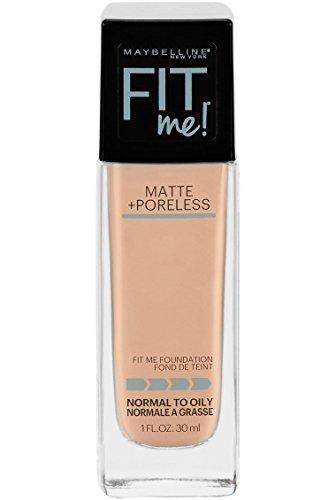 Maybelline Fit Me Matte + Poreless Liquid Foundation Makeup, Creamy Beige, 1 fl. oz. Oil-Free ()