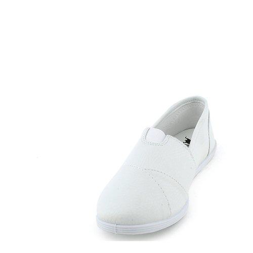 Shiekh Womens Object-S Casual Flat White Pu au8MUpgQfF