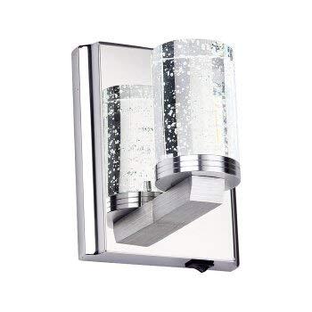 Irinay Taschenlampe Gewinnt Und Bl 1230 Edelstahl Hochwertige Led Crystal Wand Lampe Schlafzimmer Passage Flur Badezimmer Einrichtung 6 W Kopf Warm weiße s Licht 3 W Einfach Kopf Warm weiße s Licht