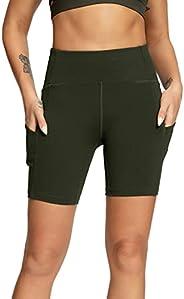 QUEENIEKE Women 6 inches Inseam Mid-Waist 3-Pocket Running Shorts Workout Fitness 70822