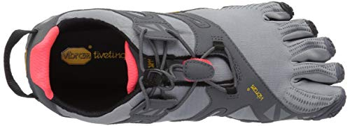 Vibram Women's V Trail Runner Grey/Black/Orange 36 EU/6 M US by Vibram (Image #8)