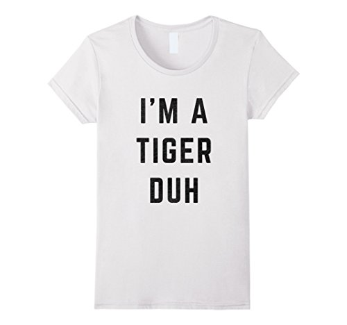 Womens I'm a Tiger Duh Halloween Costume T-Shirt Medium White - White Tiger Costume Amazon