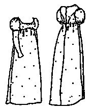 1812 Era Costumes (1809 Daywear Gown Pattern (Size Medium 12-16))