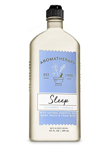 Bath Body Works Aromatherapy Sleep – Lavender Vanilla Body Wash Foam Bath, 10 Fl Oz