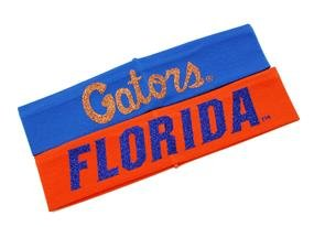 Violet Victoria & Fan Star University of Florida Headbands - Florida Gators Headband - Gators and Florida Glitter Headbands (2 Pack)