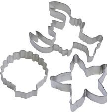 3 Piece Lobster Seashell Starfish Cookie Cutter Set NEW! Nautical