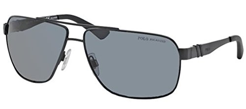 Polo 3088 903881 Matte Black 3088 Square Aviator Sunglasses Polarised Lens Cate