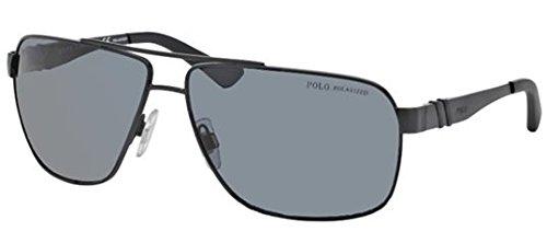 Polo 3088 903881 Matte Black 3088 Square Aviator Sunglasses Polarised Lens Cate