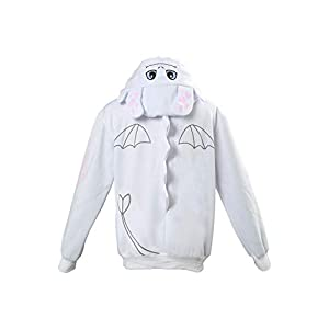 Adult Toothless Hoodie for Kids Coat White Costume with Ears Animal Dragon Sweater Casual Daily Wear Suit Gift Material:Velvet ,100% brand new and high quality Package including:Hoodie X1