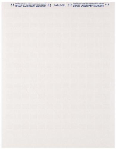 Brady LAT-15-361-1 0.5'' Width x 0.75'' Height, B-361B Self-Laminating Polyester, Matte Finish White/Translucent Laser Printable Label (Pack of 1000) by Brady
