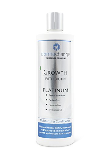 DermaChange Platinum Hair Growth Conditioner – With Vitamins – To Make Hair Grow Fast – Argon Oil and Biotin To Support Regrowth – Reduce Thinning and Hair Loss For Men and Woman