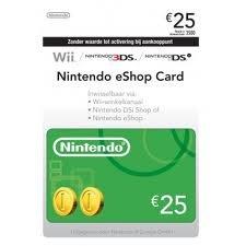 Diverse Nintendo eShop Card 25,00 €: Amazon.es: Cheques Regalo