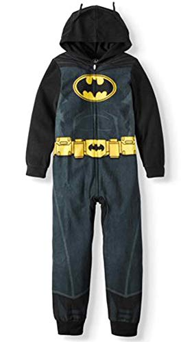 AME Boy's Batman Hooded Union Suit Pajama (Small -
