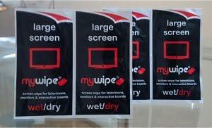 MYWIPE en seco y en húmedo tamaño Extra Grande Pantalla de TV toallitas limpiadoras x 10 – LED, OLED, Plasma y Escuela Interactive Smartboard Limpieza: Amazon.es: Electrónica