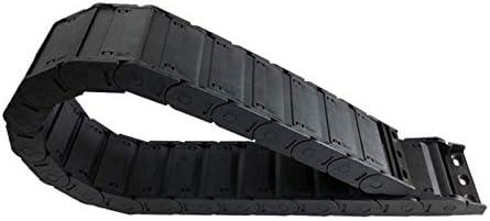 WNJ-TOOL, 1pc 25x77mm 1M geschlossen beidseitig offen Kunststoff Schleppkette Kabelschlepp Drahtträger mit Anschluss for CNC-Werkzeugmaschinen (Farbe : R250, Größe : 25x77 mm)
