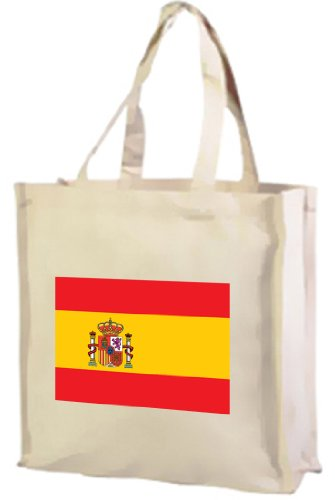 Cotton bag Flag shopping spanish Cream vS8q5