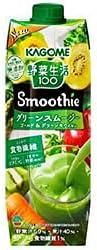 カゴメ 野菜生活100 Smoothie(スムージー) グリーンスムージー ゴールド&グリーンキウイMix 1000g紙パック×6本入×(2ケース)