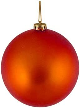 Northlight Shatterproof Matte Burnt Orange Christmas Ball Ornament 4 100mm Amazon Co Uk Kitchen Home