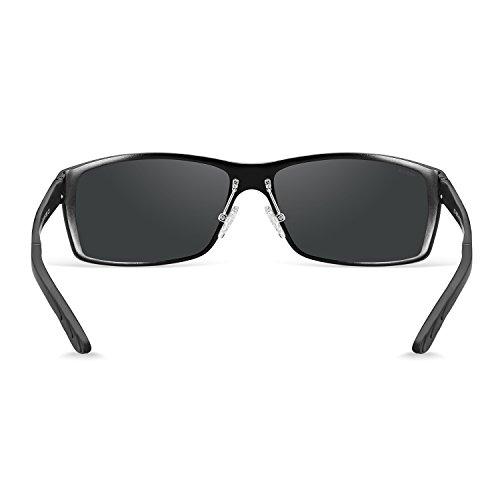 bb31b8dc90 ... Men Polarized Sunglasses For Women Metal Frame UV 400 Anti Glare Glasses  Black B ...