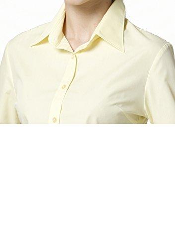 LEONIS Mujer de fácil cuidado popelín camiseta de manga larga Lemon