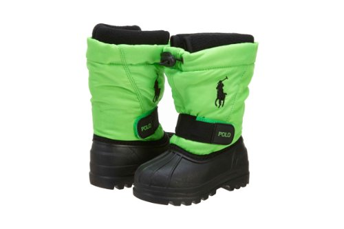 Polo Ralph Lauren Whistler (GS) Boys Snow Boots 95284-GS Neon Green 7 M US
