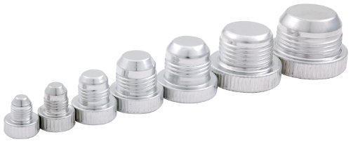 Allstar ALL50830 Aluminum Plug Kit -3AN to -16AN Sold as One Pack of 5 Each Size Allstar Performance