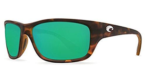 Costa Tasman Sea Sunglasses Matte Retro Tort / Green Mirror 580P & Cleaning Kit