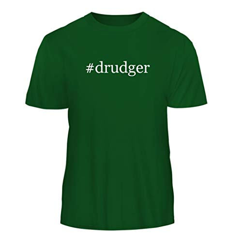 (Tracy Gifts #Drudger - Hashtag Nice Men's Short Sleeve T-Shirt, Green, Large)