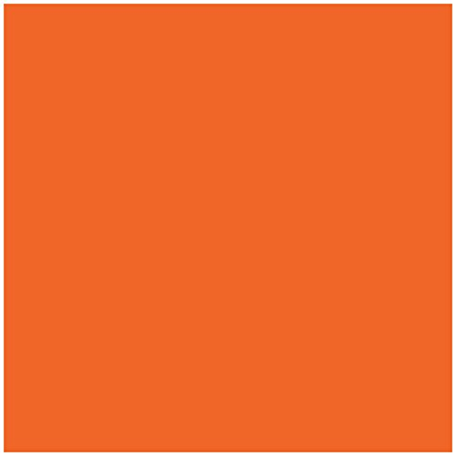 Jillson Roberts 6-Roll Count All-Occasion Matte Finish Gift Wrap Available in 22 Solid Colors, Orange