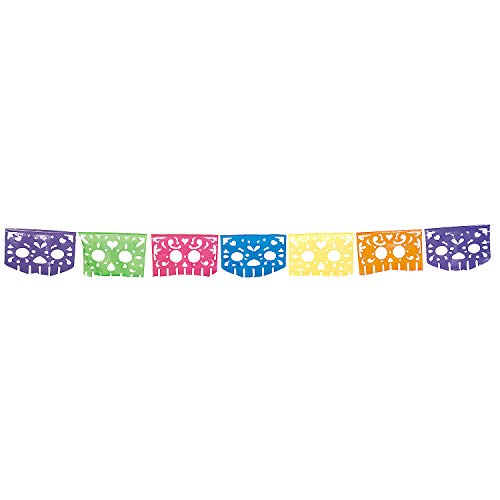 Fun Express - Day Of The Dead Cutout Banner for Halloween - Party Decor - Hanging Decor - Pennants - Halloween - 1 Piece]()