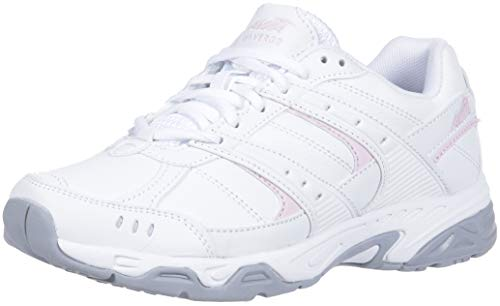 - AVIA Women's Avi-Verge Sneaker, Bright White Pink/Silver/Steel Grey, 9 Wide US