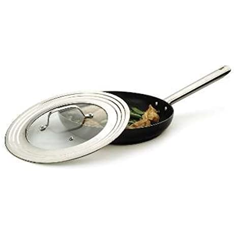 RSVP Endurance Stainless Steel Universal Lid With Glass Insert Fits Pans 7 12