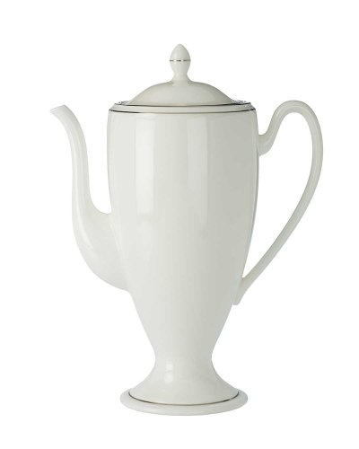 Coffee Pot Platinum Banded (Waterford China Kilbarry Platinum Beverage Pot)