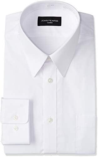 メンズワイシャツ ビジネスからフォーマルまで幅広くサポートできるスリム レギュラーカラー白無地