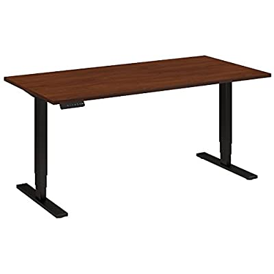 Move 80 Series 60W Height Adjustable Standing Desk in Hansen Cherry with Black Base