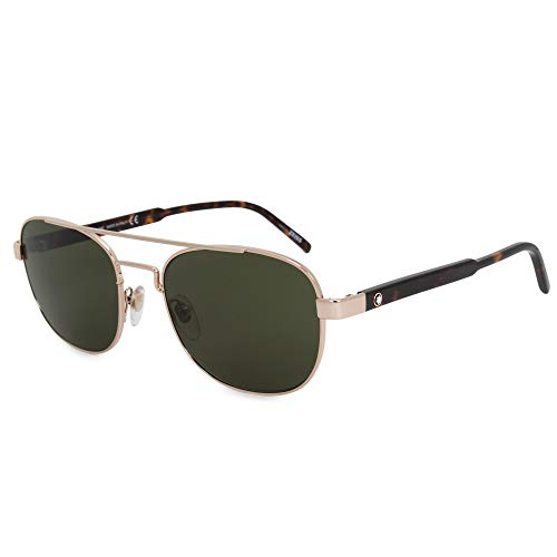 Mont Blanc MB602S Sunglasses Gold w/Green Lens 52J MB 602S