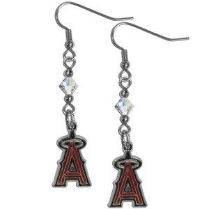 (MLB Los Angeles Angels Crystal Dangle Earrings)