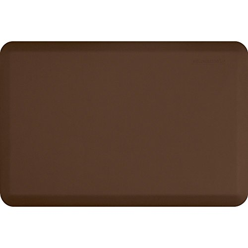 WellnessMats Original Anti-Fatigue 36 Inch by 24 Inch Kitchen Mat, Brown